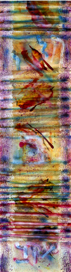 "96.5x26.5"" acrylic on canvas, 1982"
