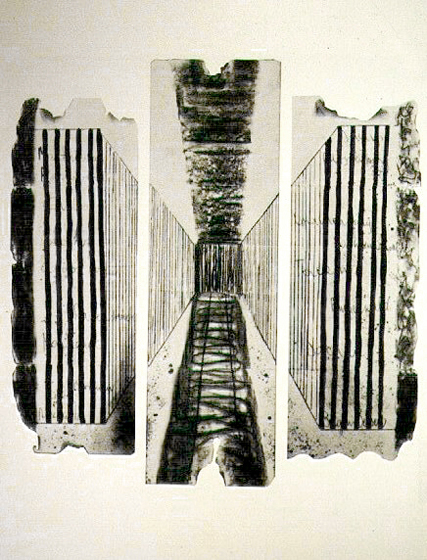 "62.5x92.5"" Ink on paper, 1979-81"